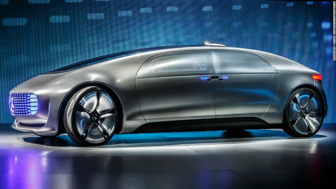 World premiere of the Mercedes-Benz F 015 Luxury in Motion at the CES.