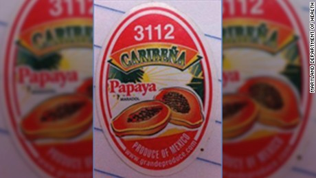 Some samples of Caribeña brand's yellow Maradol papayas tested positive for salmonella.