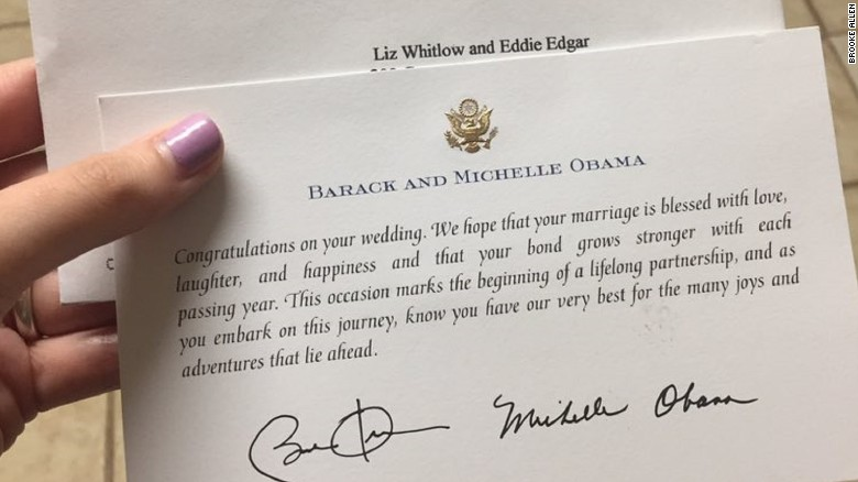 Soon, Others Started Sharing Photos Of Similar Responses They Received. It  Turns Out Obamau0027s Office Responded To Wedding Invitations Throughout His  Eight ...