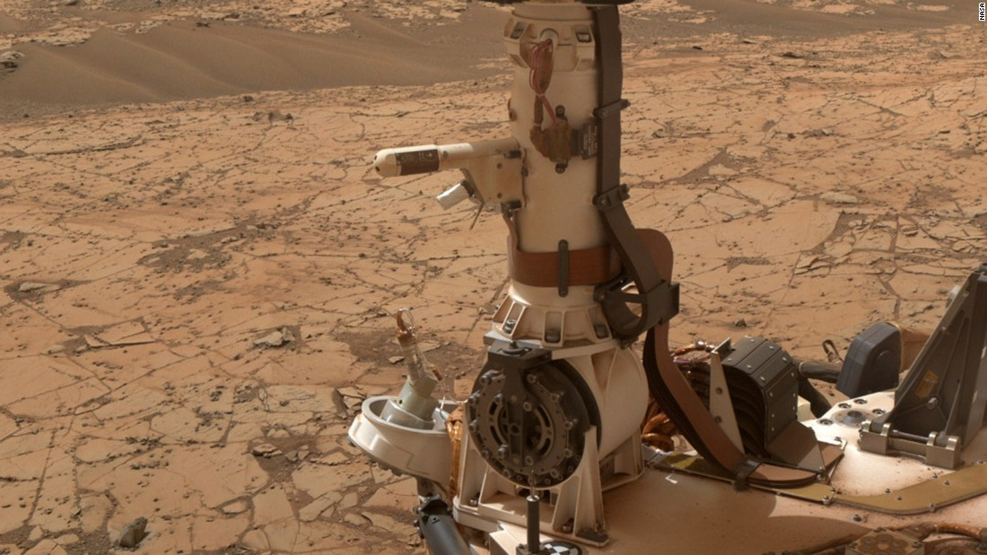 "Curiosity has temperature and humidity sensors mounted on its mast. <a href=""https://mars.nasa.gov/news/nasa-mars-rovers-weather-data-bolster-case-for-brine"" target=""_blank"">Calculations</a> in 2015 based on Curiosity's measurements<a href=""http://www.cnn.com/2015/04/14/us/mars-water-feat/index.html"" target=""_blank""> indicate</a> that Mars could be dotted with tiny puddles of salty water at night."