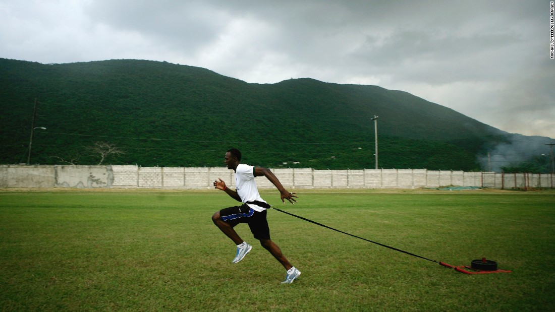 Bolt trains in Kingston, Jamaica, in 2006.