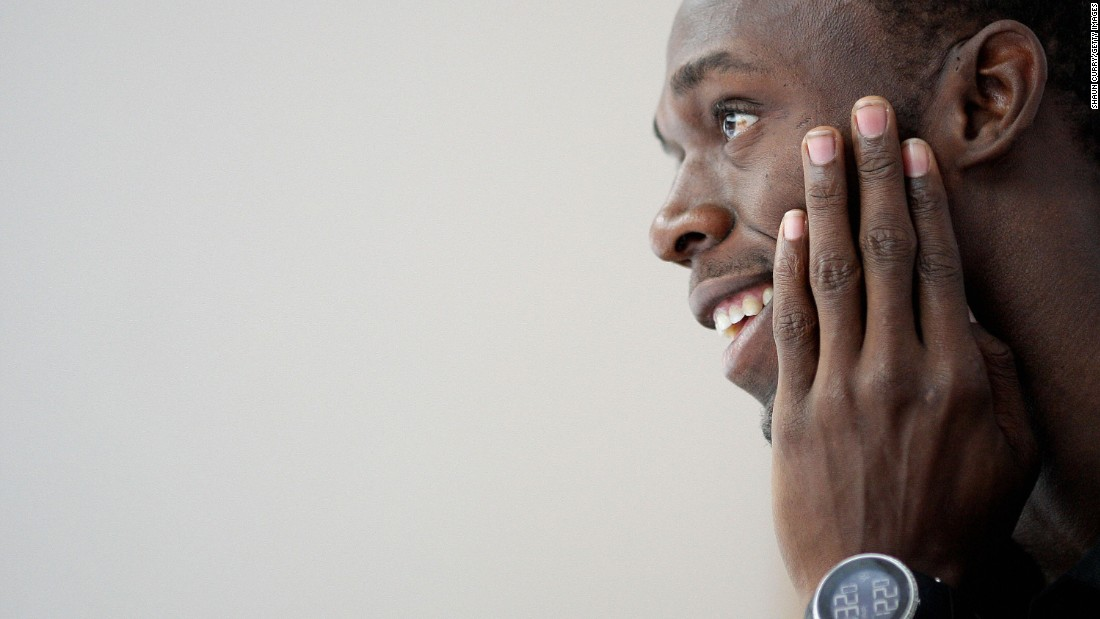 Bolt attends a news conference ahead of the Aviva London Grand Prix in 2009. That year, he broke both of his world records at the World Championships in Berlin. Those records -- 9.58 in the 100, 19.19 in the 200 -- still stand today.