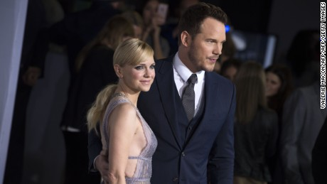 "Actors Anna Faris (L) and Chris Pratt attend the premiere of ""Passengers"", in Westwood, California."