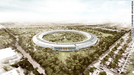 A rendering of Apple Campus 2, designed by Foster & Partners.