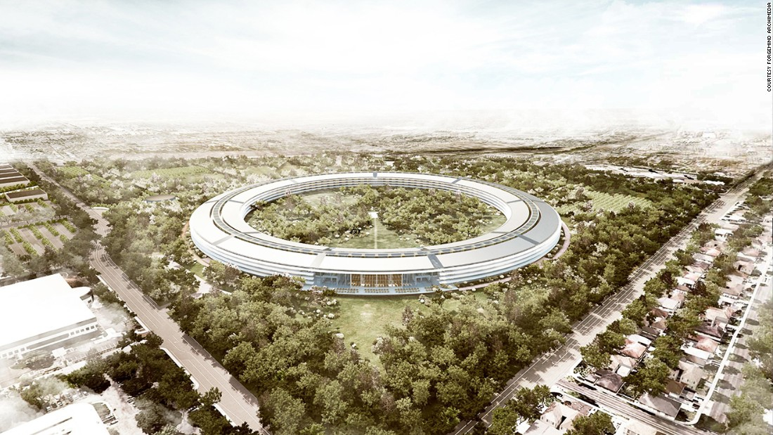 The eye-catching Apple Campus 2, Foster + Partners, opened in April 2017.
