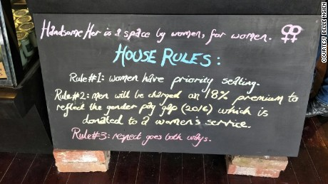 Vegan café charges 18% 'man tax' to address the gender gap