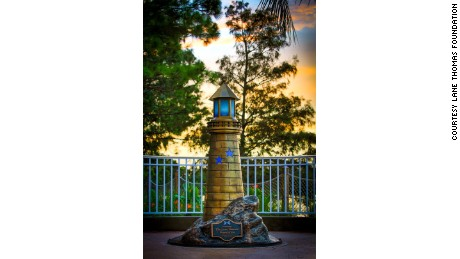 Disney erected a lighthouse statue in honor of Lane Graves.