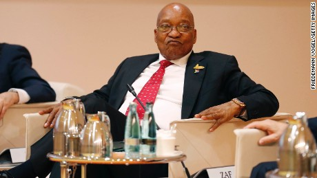 HAMBURG, GERMANY - JULY 07:  President Jacob Zuma attends the G20 leaders retreat as part of the G20 summiton July 7, 2017 in Hamburg, Germany.