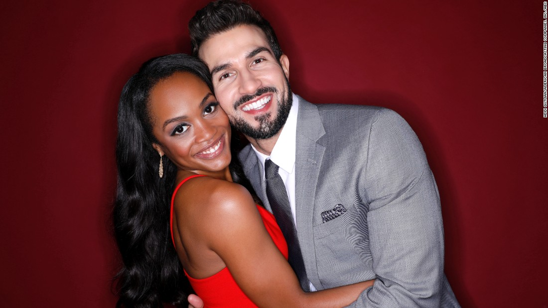 "Rachel Lindsay was cast as the first black ""Bachelorette,"" and her suitors were diverse in both age and race. On Monday night it was revealed that she selected Bryan Abasolo and the couple are engaged."