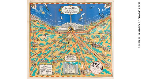 """The Capital of a New Trade Empire"" (c. 1930) by Cleveland Terminal Group"