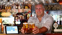In Sydney's Old Fitzory pub, customers can pay for their pints with Bitcoin, using just a smartphone and a QR code scanning app.