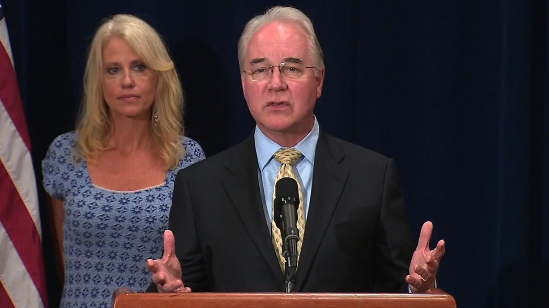 HHS Secretary Price: No trips on private jets while matter is reviewed