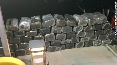 The seized contraband sits on the Customs and Border Protection Dock.