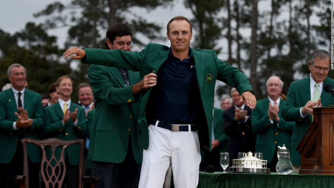 Spieth's first major title came in 2015 when he shot a record-equaling 18 under par at The Masters.