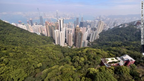 The view from Victoria Peak.