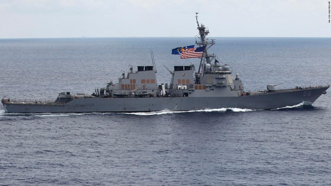 US destroyer collides with merchant ship near Singapore