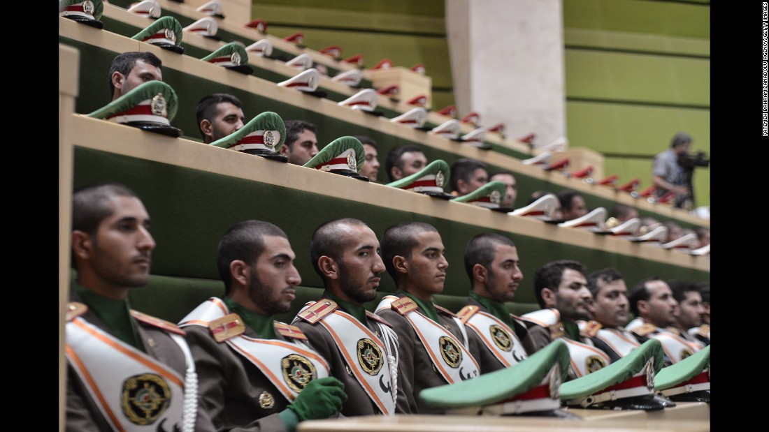 "A marching band attends the swearing-in ceremony of Iranian President Hassan Rouhani on Saturday, August 5. Rouhani <a href=""http://www.cnn.com/2017/05/20/middleeast/iran-rouhani-election/index.html"" target=""_blank"">won a second term</a> in May."