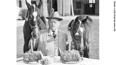 "W.K. Kellogg, shown in 1940, was a successful industrialist who ""revolutionized mass production of food,"" starting with Corn Flakes."