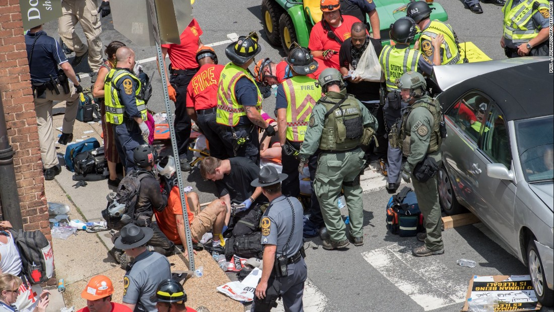 image of Videos show car crash into protesters