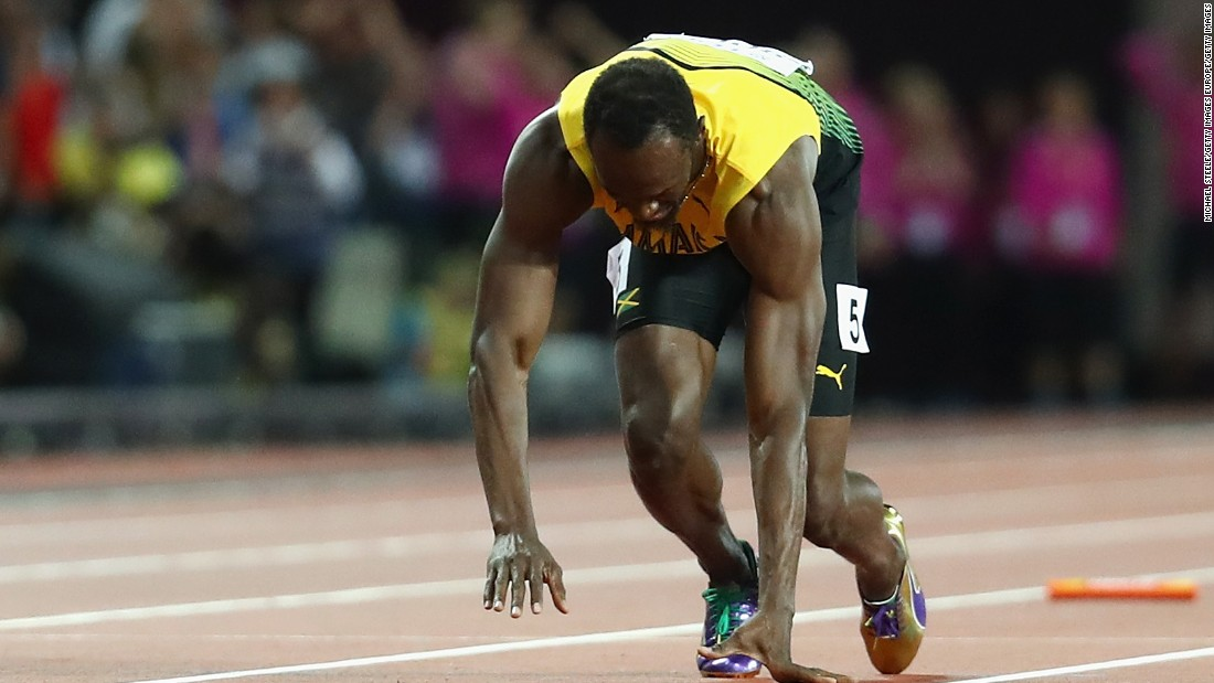 Agony for Usain Bolt as he pulls up injured in track farewell