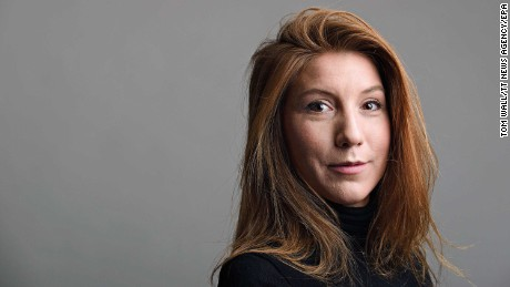 epa06140357 (FILE) Swedish journalist Kim Wall poses for a picture in Sweden on 28 December 2015 (issued 12 August 2017). Swedish journalist Kim Wall  was onboard a private submarine 'UC3 Nautilus' owned by Peter Madsen. The submarine sank on 11 August in the day after being reported missing in the night of 10 August 2017. Media reports on 12 August 21017 state that Peter Madsen has been charged over the death of a Swedish female journalist who had been on board his vessel before it sank.  EPA/TOM WALL MANDATORY BYLINE:  TOM WALL