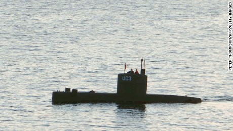 "Swedish journalist Kim Wall is alleged to have stood next to a man in the tower of the private submarine ""UC3 Nautilus"" on August 10 in Copenhagen Harbor."