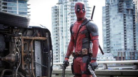 "A photo from the 2016 film ""Deadpool."""