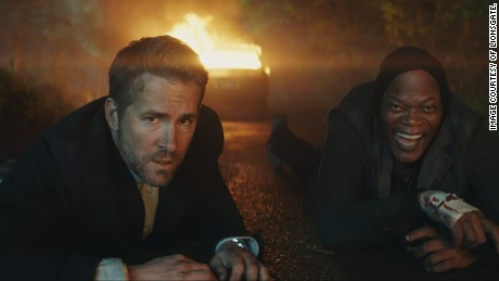 Ryan Reynolds and Samuel L. Jackson in 'The Hitman's Bodyguard'