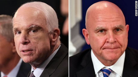 John McCain takes on H.R. McMaster critics