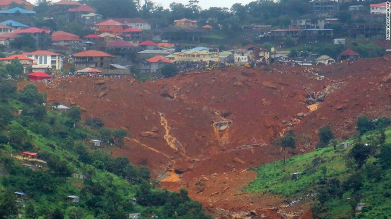 Mudslides kill hundreds in Sierra Leone