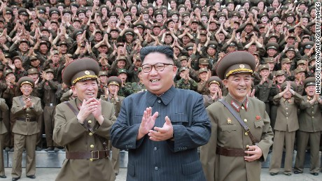 North Korean leader Kim Jong-Un inspects the Command of the Strategic Force of the Korean People's Army, in a state media photo.