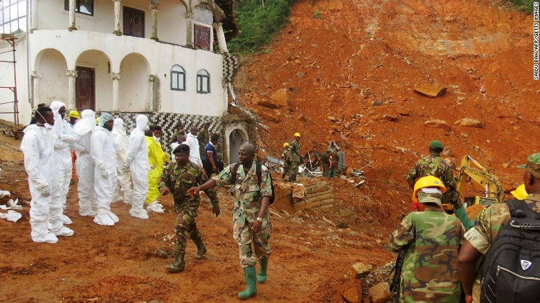 More than 400 dead in Sierra Leone mudslides