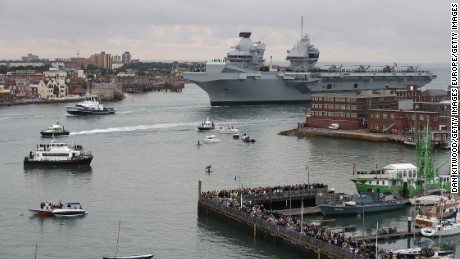 The HMS Queen Elizabeth is the lead ship in the new Queen Elizabeth class of aircraft carriers.