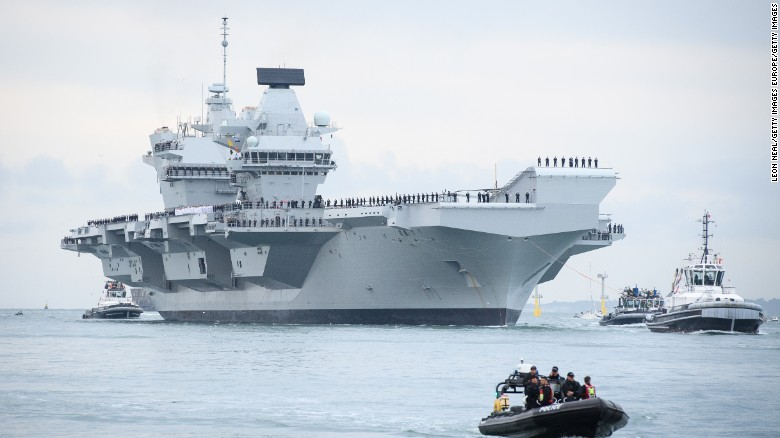 Crowds flock to see Britain's largest ship