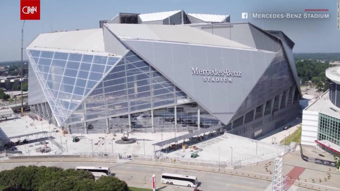 See the new massive mercedes benz stadium cnn video for Atlanta ga mercedes benz stadium