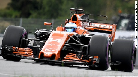 McLaren's Spanish driver Fernando Alonso drives his car during the qualifying session of the Formula One Austria Grand Prix at the Red Bull Ring in Spielberg, on July 8, 2017. / AFP PHOTO / ANDREJ ISAKOVIC        (Photo credit should read ANDREJ ISAKOVIC/AFP/Getty Images)