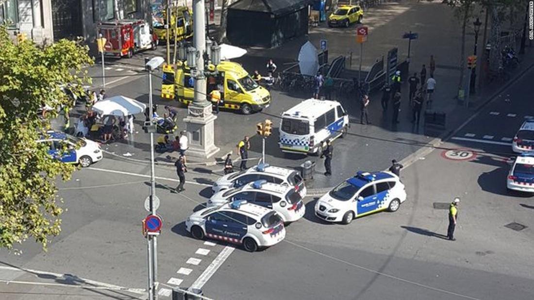 Barcelona: 13 dead in van attack near Las Ramblas