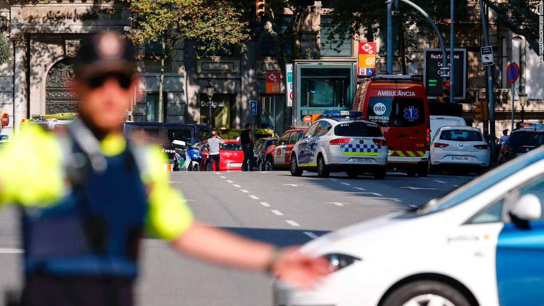 "The Catalan emergency services urged people via Twitter to avoid going out or undertaking any other type of movement that is not ""strictly necessary."""