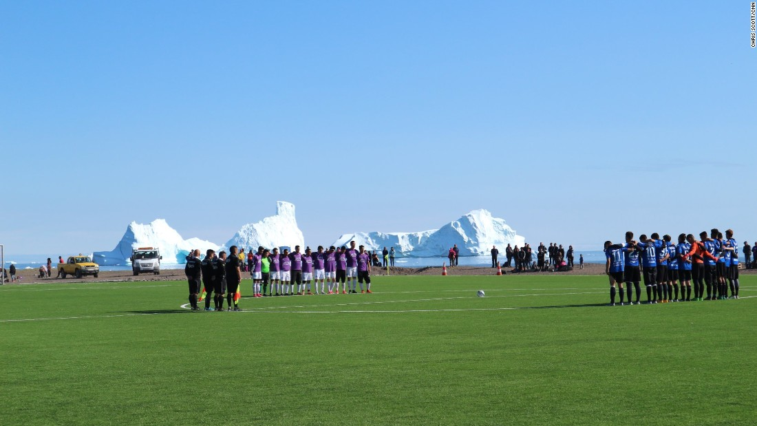Greenland: The football season where you can glimpse whales and icebergs