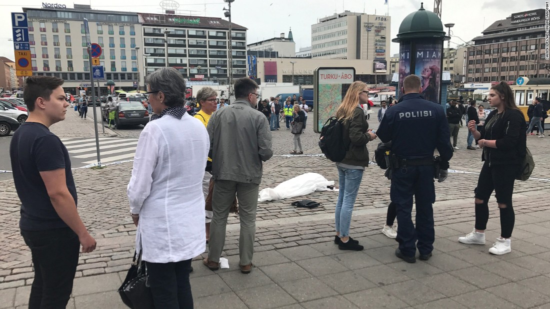 Finland stabbings being treated as terror attack, police say