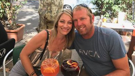 American Jared Tucker was on a two-week European trip with his wife, Heidi Nunes.