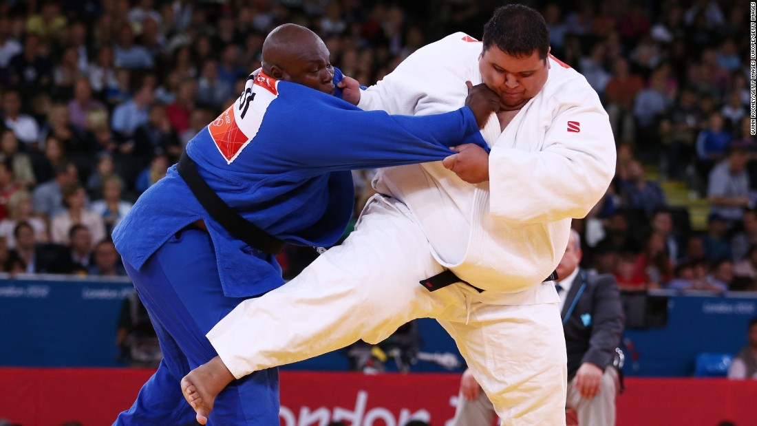 At 218 kilos, judoka Ricardo Blas Jr. (seen here on the right competing at London 2012) is the world's heaviest Olympian.