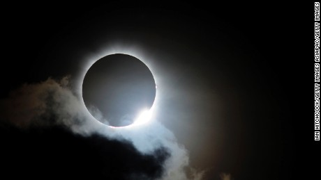 Near totality is seen during the solar eclipse at Palm Cove on November 14, 2012 in Palm Cove, Australia.