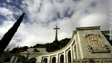 The basilica of the Valle de los Caidos (The Valley of the Fallen), a monument to the Francoist combatants who died during the Spanish civil war and Franco's final resting place just outside Madrid.