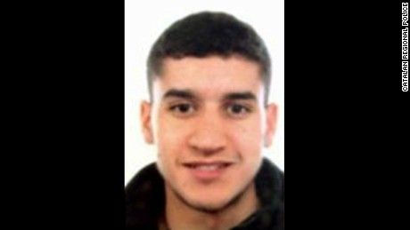 Catalan regional police released this photo of suspect Younes Abouyaaqoub.