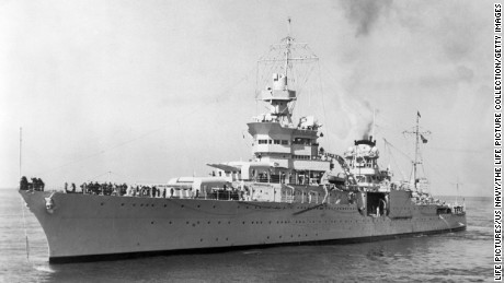 American heavy cruiser USS Indianapolis.  (Photo by Time Life Pictures/US Navy/The LIFE Picture Collection/Getty Images)