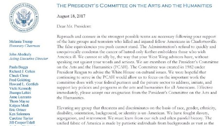Arts Council Letter Of Resignation