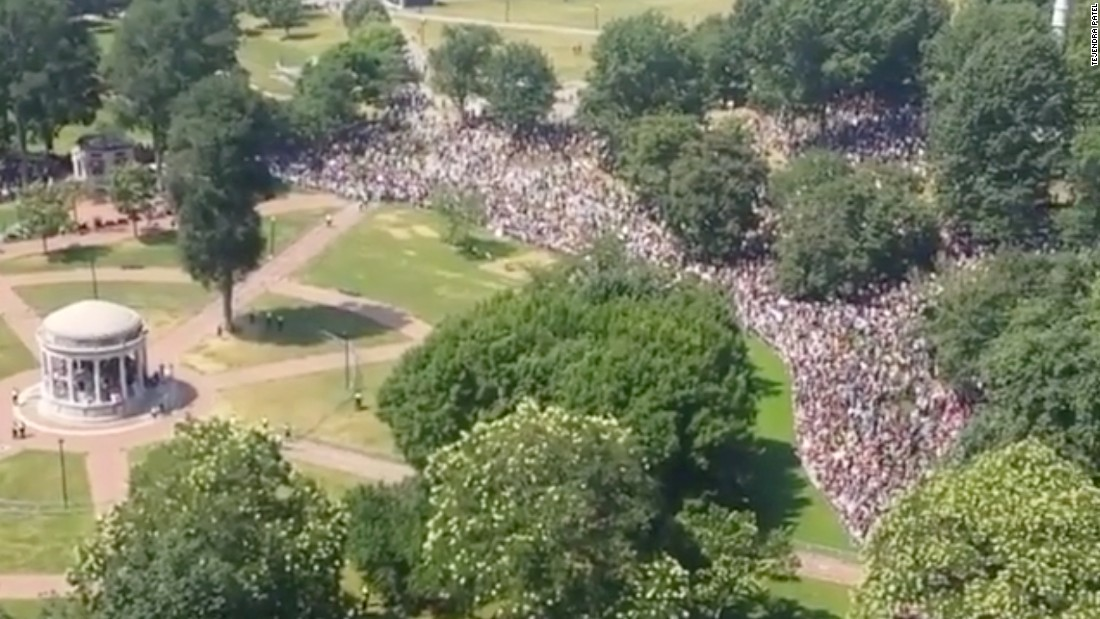 Counterprotesters dwarf controversial rally in Boston