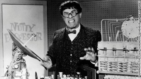 Actor Jerry Lewis (Joseph Levitch) acting in the film The Nutty Professor. 1963 (Photo by Mondadori Portfolio via Getty Images)