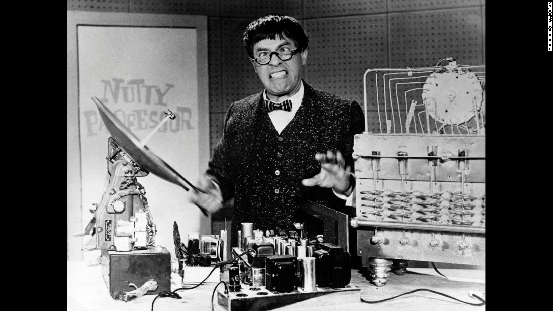 "Lewis stars in ""The Nutty Professor"" in 1963. Lewis also directed the film."